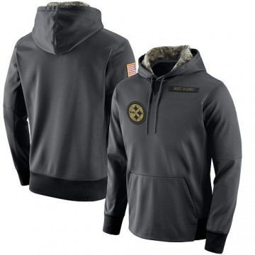 Men's Nike Pittsburgh Steelers Anthracite Salute to Service Player Performance Hoodie -