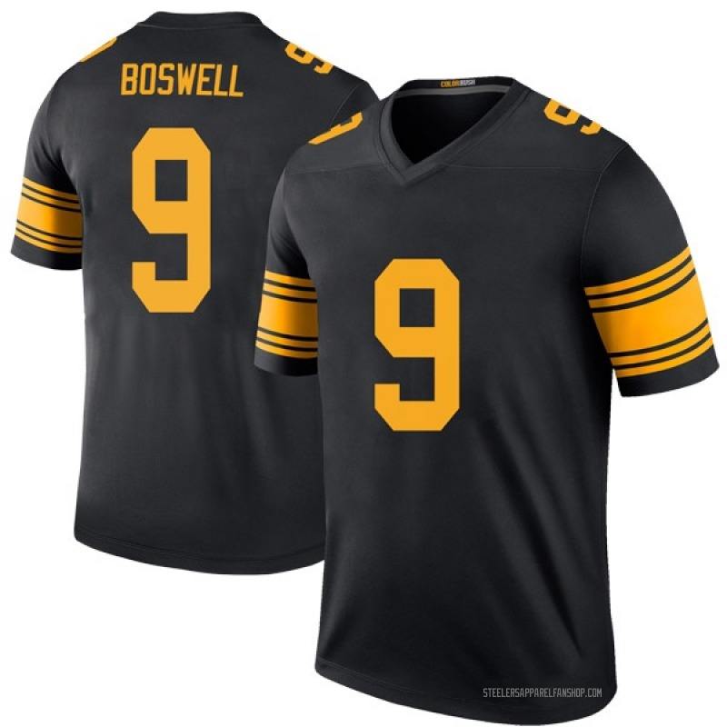 Men's Nike Pittsburgh Steelers Chris Boswell Black Color Rush Jersey - Legend