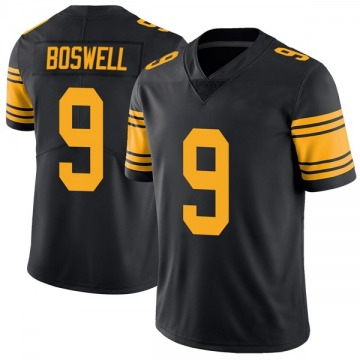 Men's Pittsburgh Steelers Chris Boswell Black Color Rush Jersey - Limited