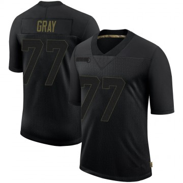 Men's Nike Pittsburgh Steelers Derwin Gray Black 2020 Salute To Service Jersey - Limited