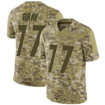 Men's Nike Pittsburgh Steelers Derwin Gray Camo 2018 Salute to Service Jersey - Limited