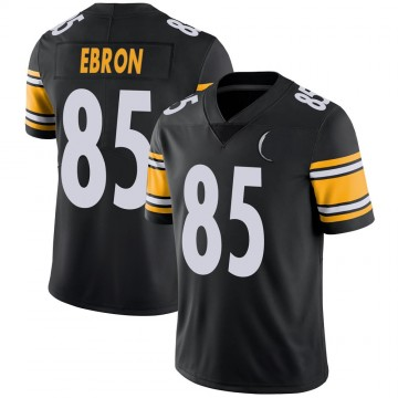 Men's Nike Pittsburgh Steelers Eric Ebron Black 100th Vapor Jersey - Limited