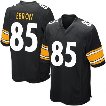 Men's Nike Pittsburgh Steelers Eric Ebron Black Team Color Jersey - Game