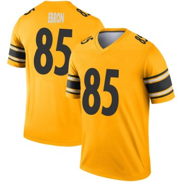 Men's Nike Pittsburgh Steelers Eric Ebron Gold Inverted Jersey - Legend