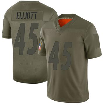Men's Nike Pittsburgh Steelers Jayrone Elliott Camo 2019 Salute to Service Jersey - Limited