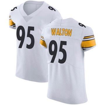 Men's Nike Pittsburgh Steelers L.T. Walton White Vapor Untouchable Jersey - Elite