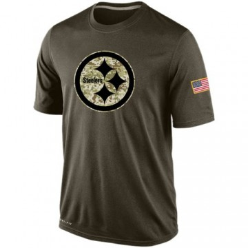 Men's Nike Pittsburgh Steelers Olive Salute To Service KO Performance Dri-FIT T-Shirt -