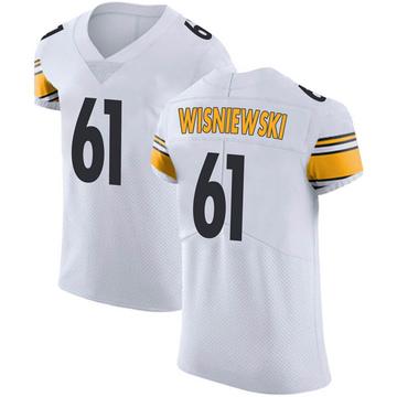 Men's Nike Pittsburgh Steelers Stefen Wisniewski White Vapor Untouchable Jersey - Elite