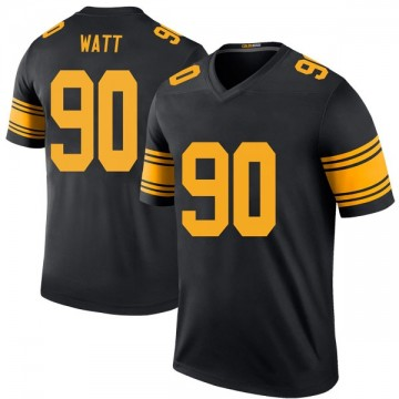 Men's Pittsburgh Steelers T.J. Watt Black Color Rush Jersey - Legend