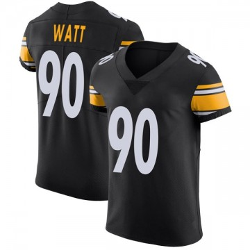 Men's Pittsburgh Steelers T.J. Watt Black Team Color Vapor Untouchable Jersey - Elite