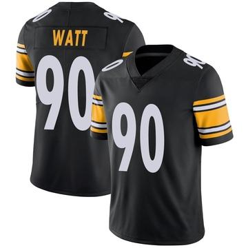 Men's Nike Pittsburgh Steelers T.J. Watt Black Team Color Vapor Untouchable Jersey - Limited