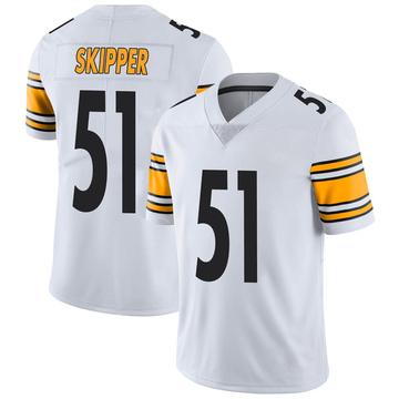 Men's Nike Pittsburgh Steelers Tuzar Skipper White Vapor Untouchable Jersey - Limited