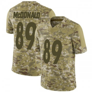Men's Nike Pittsburgh Steelers Vance McDonald Camo 2018 Salute to Service Jersey - Limited