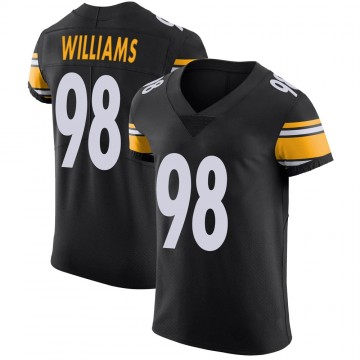 Men's Pittsburgh Steelers Vince Williams Black Team Color Vapor Untouchable Jersey - Elite