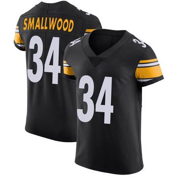 Men's Pittsburgh Steelers Wendell Smallwood Black Team Color Vapor Untouchable Jersey - Elite