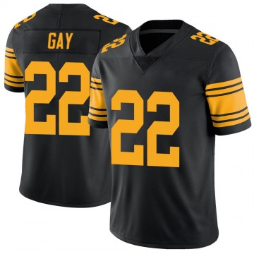 Men's Pittsburgh Steelers William Gay Black Color Rush Jersey - Limited