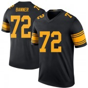 Men's Nike Pittsburgh Steelers Zach Banner Black Color Rush Jersey - Legend
