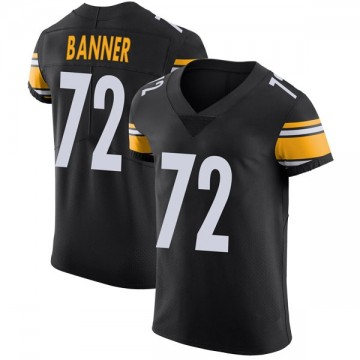 Men's Pittsburgh Steelers Zach Banner Black Team Color Vapor Untouchable Jersey - Elite