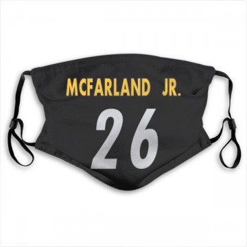 Pittsburgh Steelers Anthony McFarland Jr. Black Jersey Name & Number Face Mask
