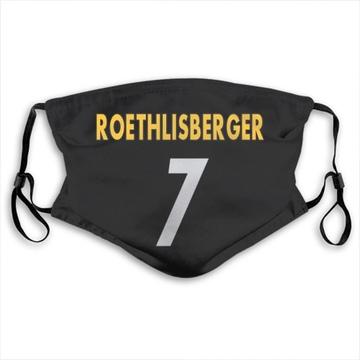 Pittsburgh Steelers Ben Roethlisberger Black Jersey Name & Number Face Mask