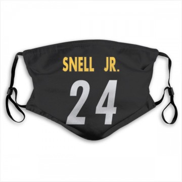Pittsburgh Steelers Benny Snell Jr. Black Jersey Name & Number Face Mask