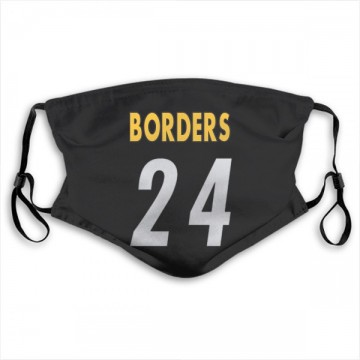 Pittsburgh Steelers Breon Borders Black Jersey Name & Number Face Mask