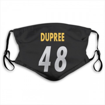 Pittsburgh Steelers Bud Dupree Black Jersey Name & Number Face Mask