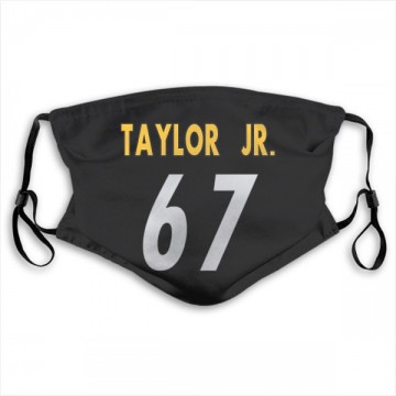 Pittsburgh Steelers Calvin Taylor Jr. Black Jersey Name & Number Face Mask