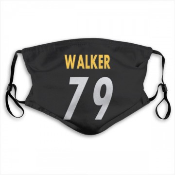 Pittsburgh Steelers Cavon Walker Black Jersey Name & Number Face Mask