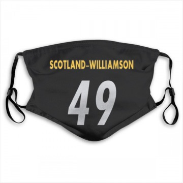 Pittsburgh Steelers Christian Scotland-Williamson Black Jersey Name & Number Face Mask