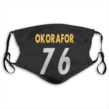 Pittsburgh Steelers Chukwuma Okorafor Black Jersey Name & Number Face Mask