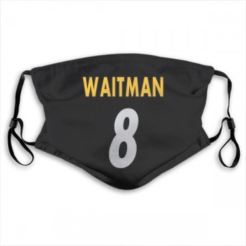 Pittsburgh Steelers Corliss Waitman Black Jersey Name & Number Face Mask