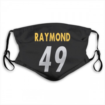 Pittsburgh Steelers Dax Raymond Black Jersey Name & Number Face Mask