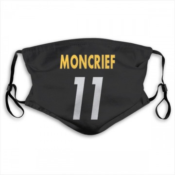 Pittsburgh Steelers Donte Moncrief Black Jersey Name & Number Face Mask