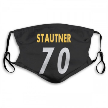 Pittsburgh Steelers Ernie Stautner Black Jersey Name & Number Face Mask