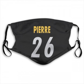 Pittsburgh Steelers James Pierre Black Jersey Name & Number Face Mask