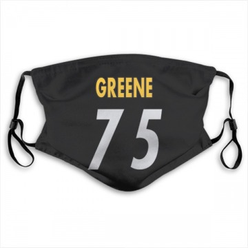 Pittsburgh Steelers Joe Greene Black Jersey Name & Number Face Mask