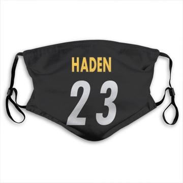 Pittsburgh Steelers Joe Haden Black Jersey Name & Number Face Mask