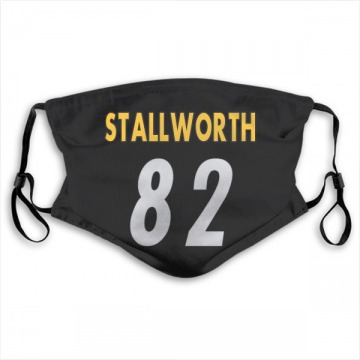 Pittsburgh Steelers John Stallworth Black Jersey Name & Number Face Mask