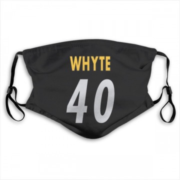 Pittsburgh Steelers Kerrith Whyte Jr. Black Jersey Name & Number Face Mask