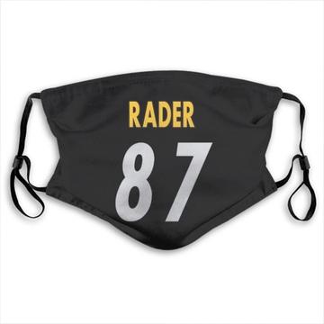 Pittsburgh Steelers Kevin Rader Black Jersey Name & Number Face Mask