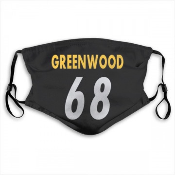 Pittsburgh Steelers L.C. Greenwood Black Jersey Name & Number Face Mask