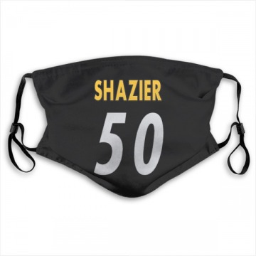 Pittsburgh Steelers Ryan Shazier Black Jersey Name & Number Face Mask