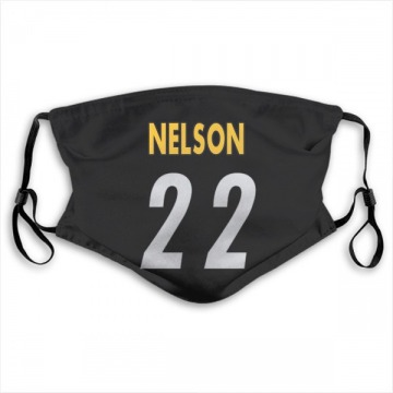 Pittsburgh Steelers Steven Nelson Black Jersey Name & Number Face Mask