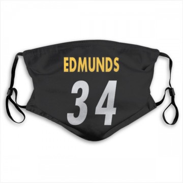 Pittsburgh Steelers Terrell Edmunds Black Jersey Name & Number Face Mask