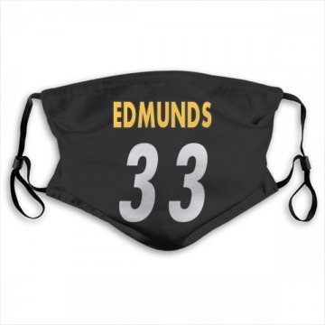 Pittsburgh Steelers Trey Edmunds Black Jersey Name & Number Face Mask