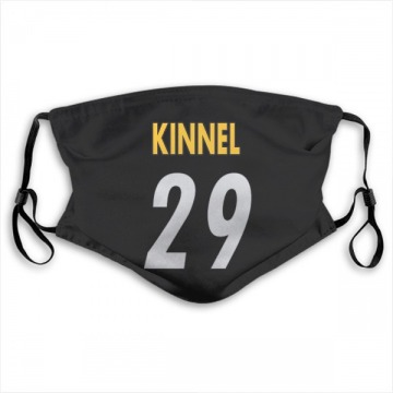 Pittsburgh Steelers Tyree Kinnel Black Jersey Name & Number Face Mask