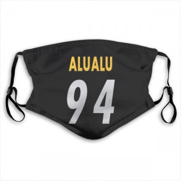 Pittsburgh Steelers Tyson Alualu Black Jersey Name & Number Face Mask
