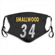 Pittsburgh Steelers Wendell Smallwood Black Jersey Name & Number Face Mask