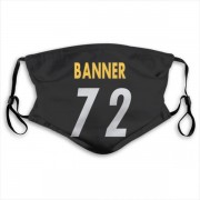Pittsburgh Steelers Zach Banner Black Jersey Name & Number Face Mask